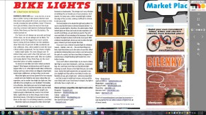 "Momentum article ""Bike Lights"""