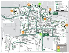 2015 MSU Bike map showing DIY stations