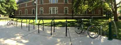 DIY station outside of Snyder-Philips Hall